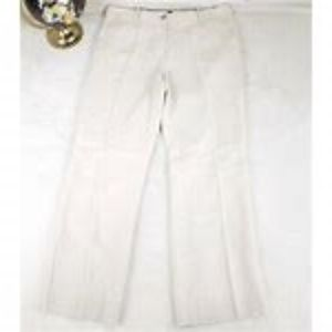 Talbots White Windsor Linen Pant